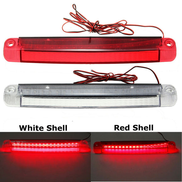 Unverisal 12V 5W Car 18 LED Car Reversing Lights Rear Tail Third Brake Stop Light High Mount Lamp Red 1210  MartLion