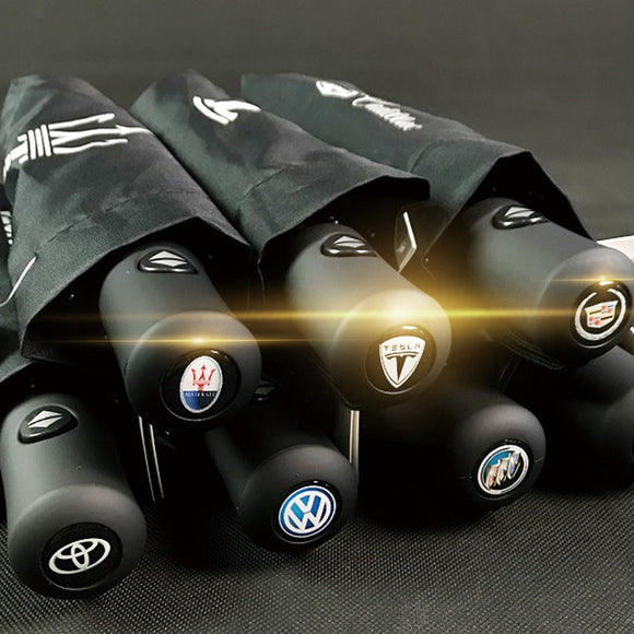 Various Brands of Car Logo Umbrella for BMW Mercedes Exclusive Audi Umbrella Rain Men Women Automatic Black Umbrellas  MartLion