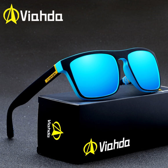 Viahda Polarized Sunglasses Men Brand Design Driving Sun glasses Square Glasses For Men High Quality UV400 Shades Eyewear  MartLion