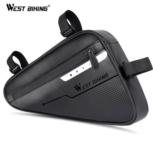 WEST BIKING Waterproof Cycling Tube Bags 3L MTB Road Bike Triangle Bag Cycling Frame Front Bags Repair Tools Pannier Bicycle Bag