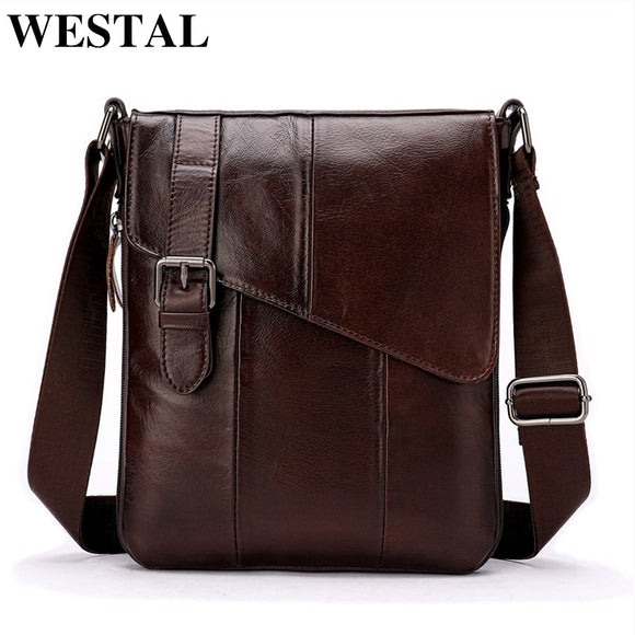 WESTAL Men Leather Messenger Bag Men's shoulder bag Genuine Leather Men's  Small Casual Flap male Crossbody Bags For men 8240 - Mart Lion  Best shopping website