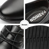 WOTTE New Men Leather Shoes Business Men'S Dress Shoes Fashion Casual Wedding Shoes Comfortable Pointed Solid Color Men Shoes  MartLion