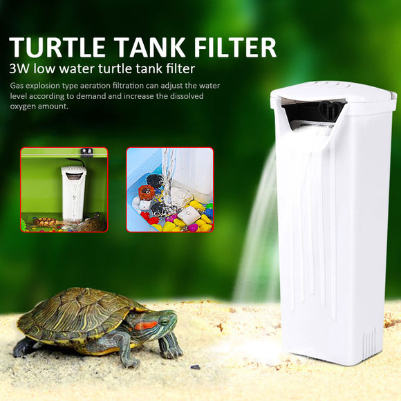 Waterfall Filter Efficient Turtle Filter Low Water Level Aquarium Accessories Portable Fish Tank Aquarium Filter Pet Supplies - Mart Lion  Best shopping website