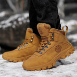 Waterproof Hiking Shoes Men Outdoor Tactical Boots Winter Warm Antiskid Botas Man Sneakers Climbing Mountain Shoes Hunting Boots  MartLion