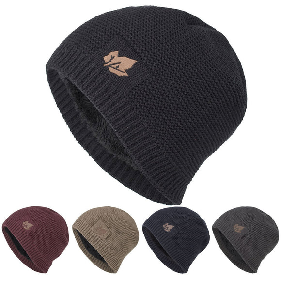 Winter Hat Soft Warm Knitted Cap Head Wrap Cap Casual Men Women Winter Down Headgear Solid Color Pile Cap Casual Earmuffs Hat - Mart Lion  Best shopping website