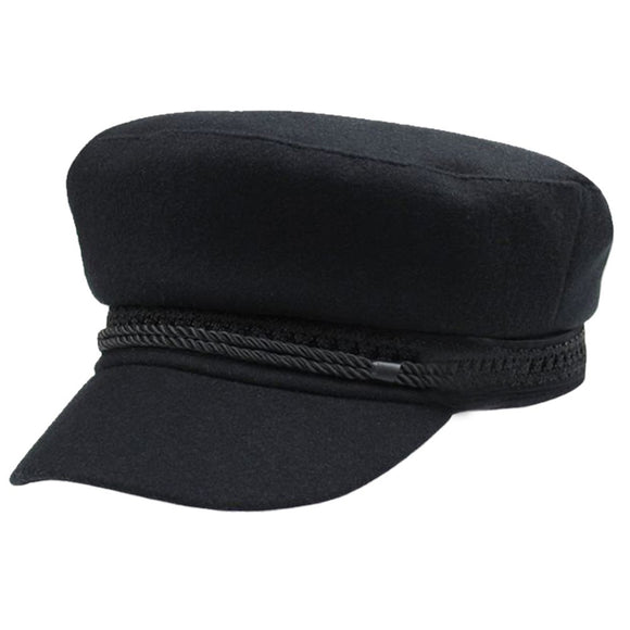 Winter Hats For Women Winter Cap Wool Hat Female Button Baseball Cap Sun Visor Hat Gorras Casquette Black Fall Boina Bone - Mart Lion  Best shopping website