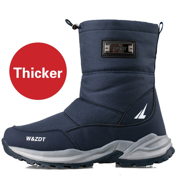 Winter High Boots For Man Outdoor Walking Mans Footwear Non-slip  Snow Boots Cotton Shoes Plus Velvet Keep Warm Men Casual Shoes