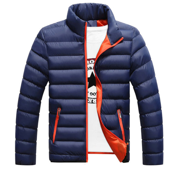 Winter Men cotton jacket coats Cotton Padded Thick  Warm jakcet Stand Collar light Outerwear Casual Overcoat  Clothing Coats