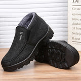 Winter New 2020 Fashion Casual Flat Bottom Men's Cotton Boots High Quality Non-slip Soft And Comfortable Men's Cotton Boots  MartLion