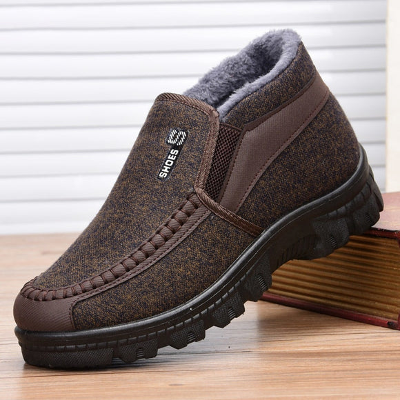 Winter New 2020 Fashion Casual Flat Bottom Men's Cotton Boots High Quality Non-slip Soft And Comfortable Men's Cotton Boots