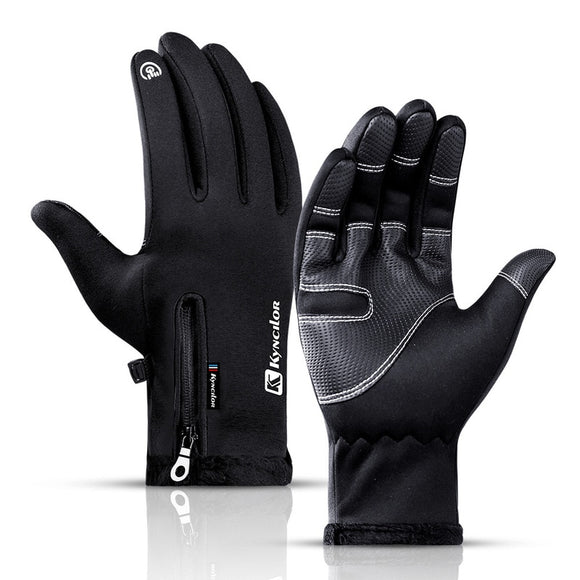 Winter Ski Gloves Touch Screen Windproof Sports Fishing Gloves Full Finger Warm Cycling Gloves