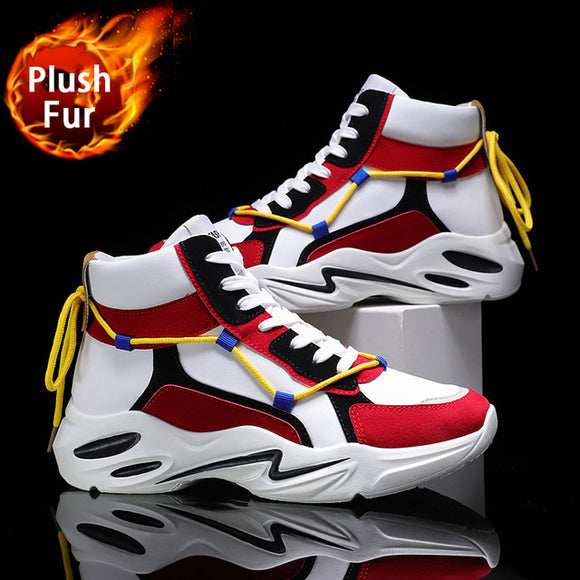 Winter Snow Boots Men Trend Casual High Top Shoes Male Outdoor Chunky Sneakers Men Classic Fluffy Sport Basketball Shoes  MartLion