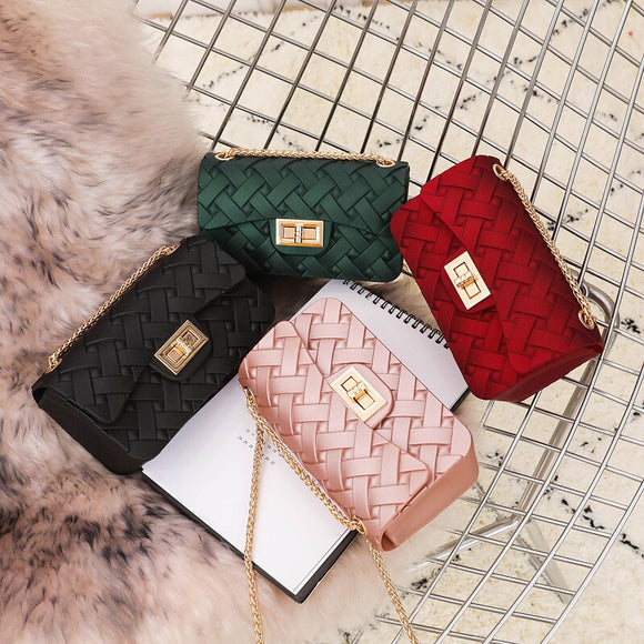 Women Bag Mini Woven Pattern Crossbody Bags for Women 2019 Chain Shoulder Messenger Bag Lady Travel Purses and Luxury Handbags - Mart Lion  Best shopping website