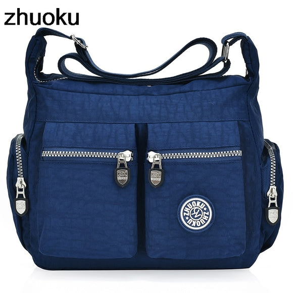 Women Top-handle Shoulder Bag Designer Handbag Famous Brand Nylon Female Casual Shopping Tote Hobos Crossbody Bag Messenger Bags - Mart Lion  Best shopping website
