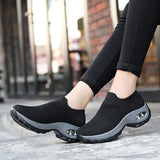 Women sneakers 2020 new breathable mesh sneakers women shoes convenient slip-on air cushion casual shoes woman tenis feminino  MartLion