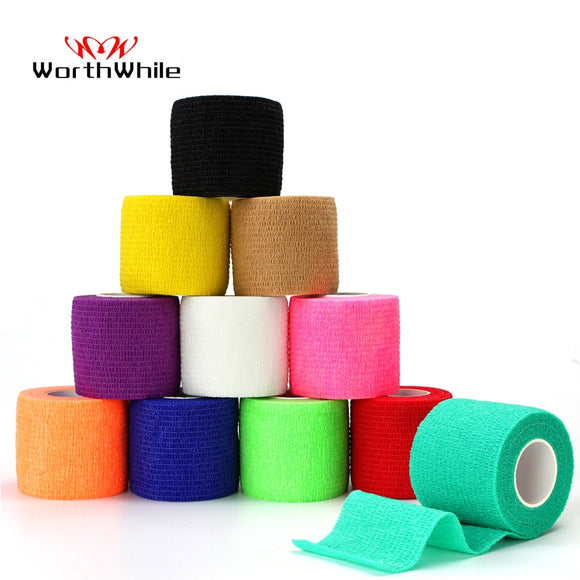 WorthWhile 5CM*450CM Self Adhesive Elastic Bandage Non-woven Fabric Tape Fitness Gear Knee Elbow Support Injury Pad