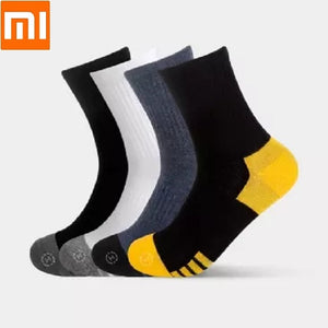 Xiaomi Qimian man antibacterial Combed cotton Middle tube men's socks Healthy skin Breathable comfort Slow shock Male Socks  MartLion