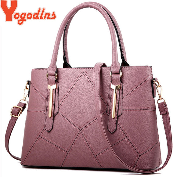 Yogodlns Women PU Leather Shoulder Bags Fashion Messenger Bags Casual Beach Bag Shopping Tote Handbag Bolsos Mujer  MartLion