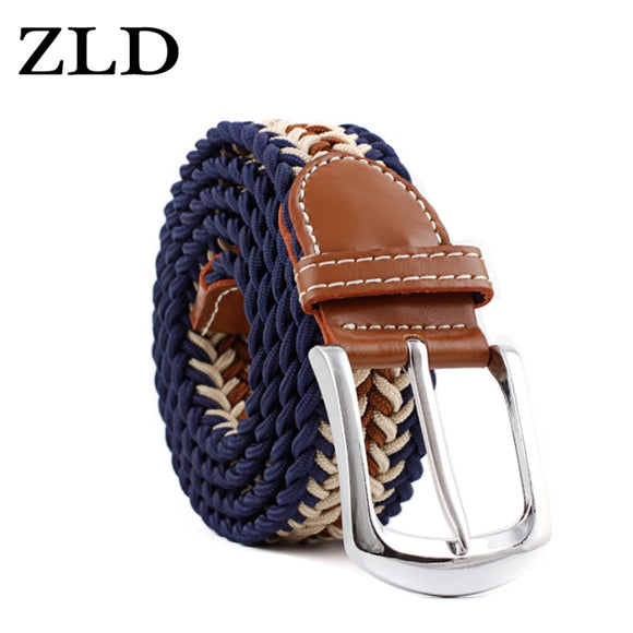 ZLD New Top Fashion Men's Stretch Braided Elastic Woven Canvas pin Buckle women Belt Waistband Waist Straps Faux leather 2019  MartLion