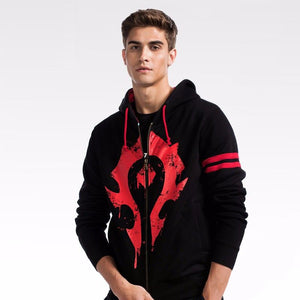 ZOGAA 2018 new  Fashion Hoodies Man Mens Hoodies and Sweatshirts World of Warcraft Horde and Alliance LOGO  Size s-3XL  MartLion