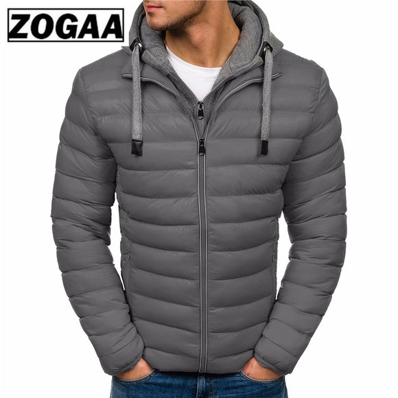 ZOGAA Winter Jacket Men Clothes Hooded Parka Cotton Coat Men Keep Warm Jackets Fashion Coats