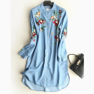 Zanzea New Vadim Sale De Festa Vestidos Mujer Ukraine Women Free Shipping 2019 Summer Embroidery Flowers Long Sleeve Female  MartLion