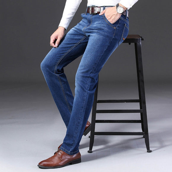 classic men's jeans slim fashion stretch wide jeans men black blue Casual jeans man's jeans TJWLKJ - Mart Lion  Best shopping website