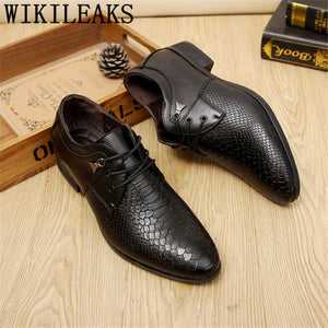 crocodile shoes Coiffeur men pointed toe shoes oxfords mens designer shoes men zapatos de hombre de vestir formal erkek ayakkabi  MartLion