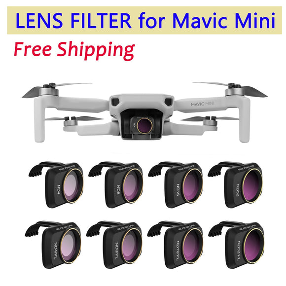 for DJI Mavic Mini Drone Camera Gimbal Lens Filter MCUV CPL ND Camera Lens Sunhood Protector for DJI Mavic Mini Accessories  MartLion.com