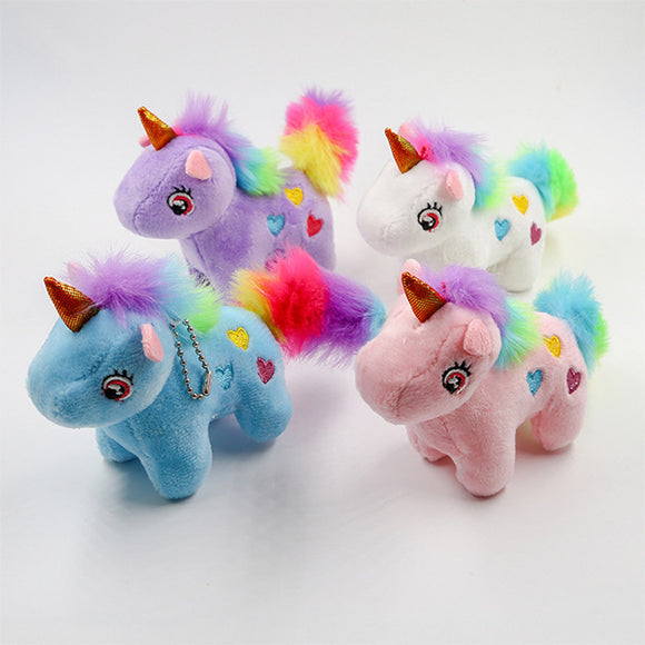 rainbow color tail plush unicorn toy stuffed mini animals doll toys for children cartoon plush toys peluche educational toys  MartLion.com