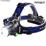 super bright Led Headlamp L2/T6 Zoomable Headlight Head Torch Flashlight Head lamp by 18650 battery for Fishing Hunting Climbing  MartLion.com