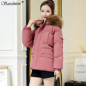 womens Parka Casual Outwear Autumn Winter Hooded Coat Winter Jacket Women Fur Coats Women's Fashion Down Cotton Padded Jackets  MartLion