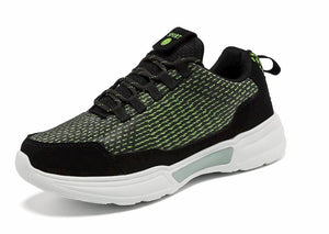 SNEAKER NEWS Flashing Light Up Shoes Green side forward view