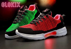 SNEAKER NEWS Flashing Light Up Shoes Glowing Green and Red with GloKix logo