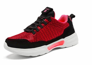 SNEAKER NEWS Flashing Light Up Shoes Glowing Red forward side view
