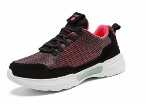 SNEAKER NEWS Flashing Light Up Shoes Red forward side view