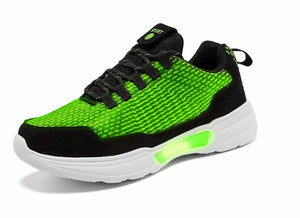 SNEAKER NEWS Flashing Light Up Shoes Glowing Green