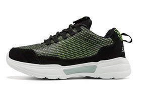 SNEAKER NEWS Flashing Light Up Shoes Green side view
