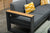 Cube Charcoal - Corner Group with Ottoman