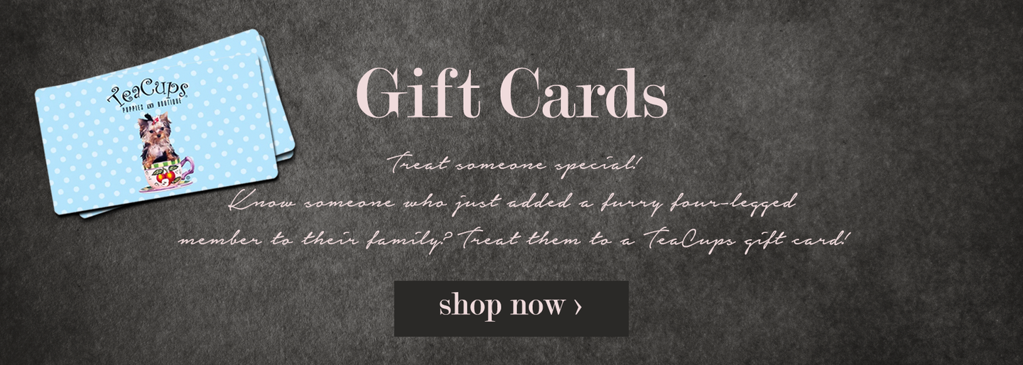 pet dog boutique teacup puppies gift card