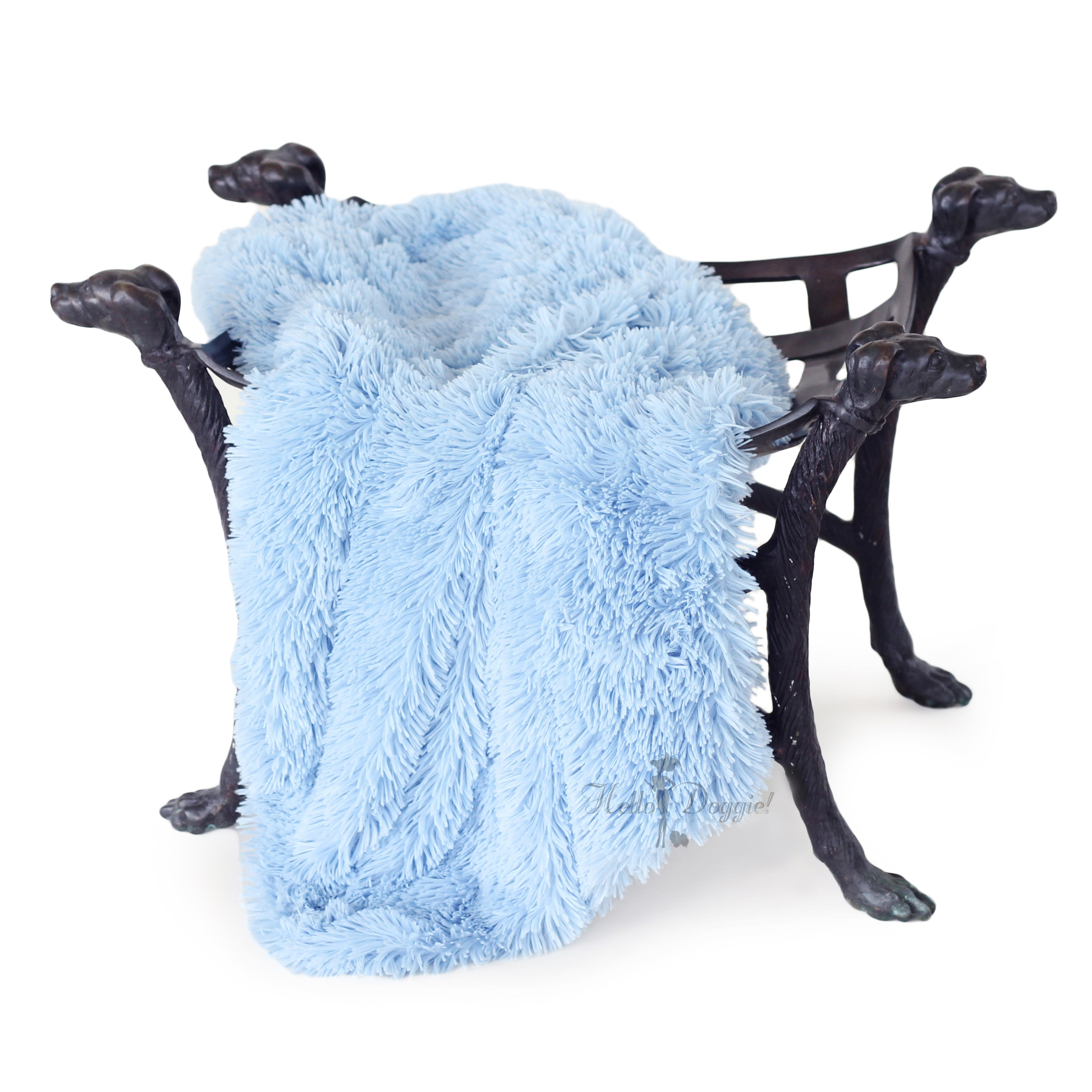Shag Pet Blanket: Blue