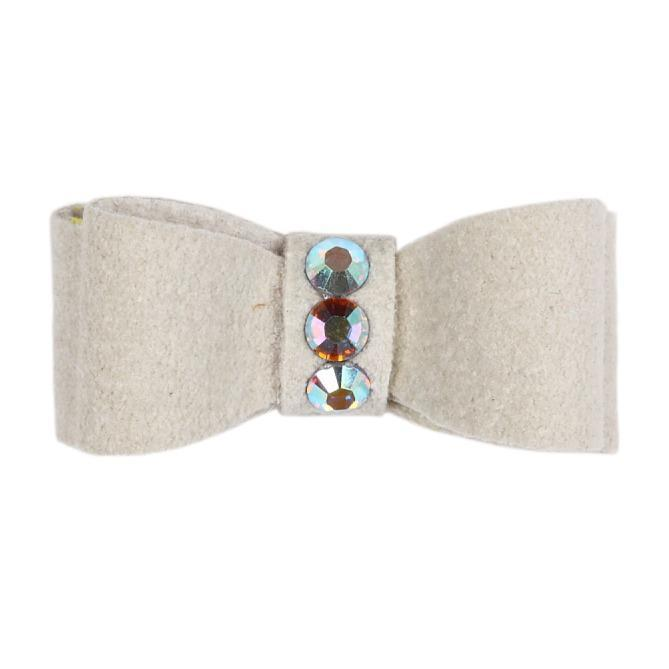 Dog Bows - Doe 3-Stone Dog Hair Bow by Susan Lanci