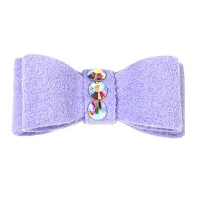 Dog Bows - Lilac  3-Stone Dog Hair Bow by Susan Lanci