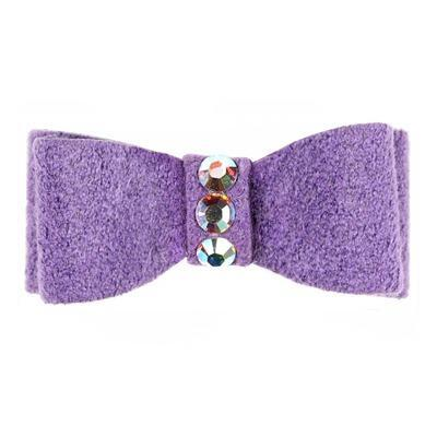 Dog Bows - Ultraviolet 3-Stone Dog Hair Bow by Susan Lanci
