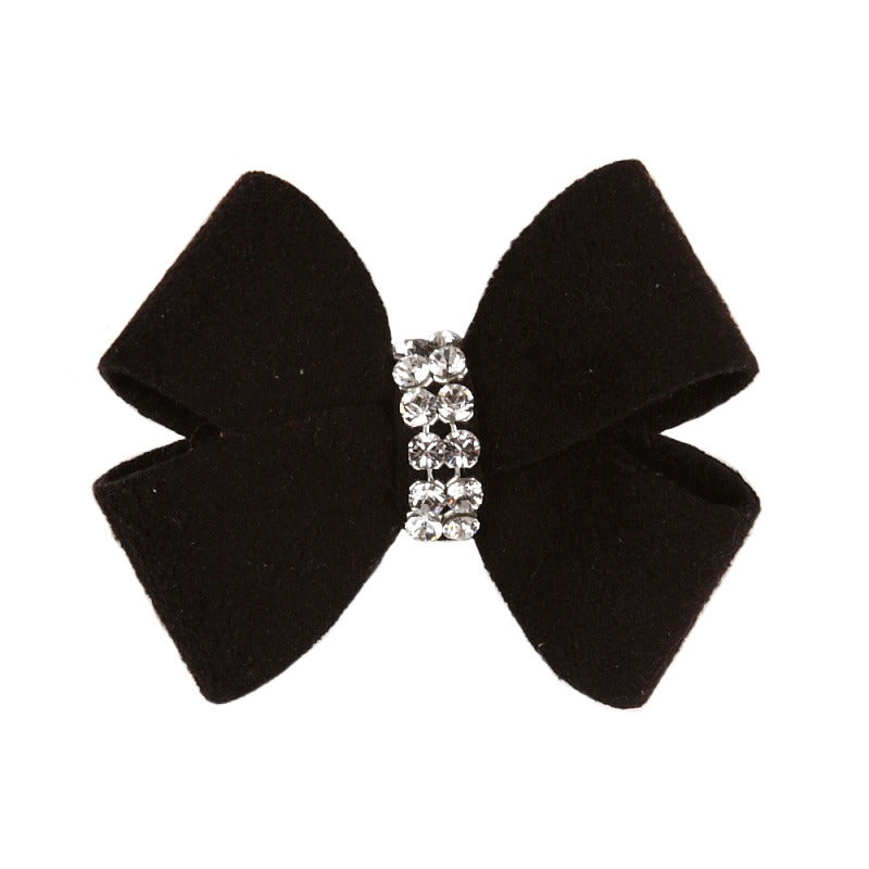 Dog Bow - Black Nouveau Dog Bow by Susan Lanci