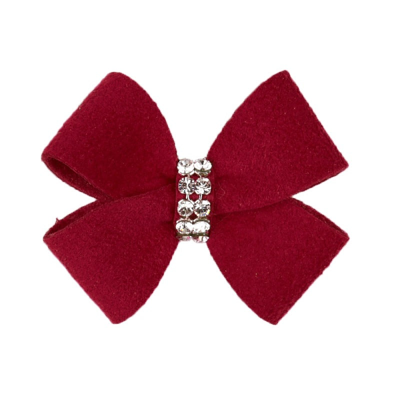 Dog Bow - Burgundy Nouveau Dog Bow by Susan Lanci