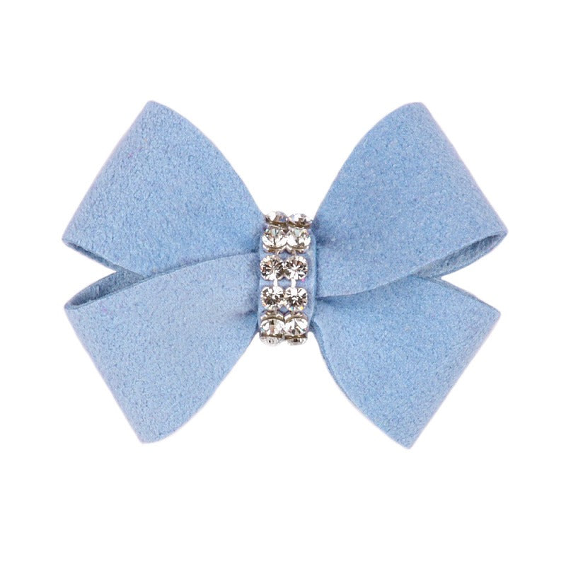 Dog Bow - Puppy Blue Nouveau Dog Bow by Susan Lanci