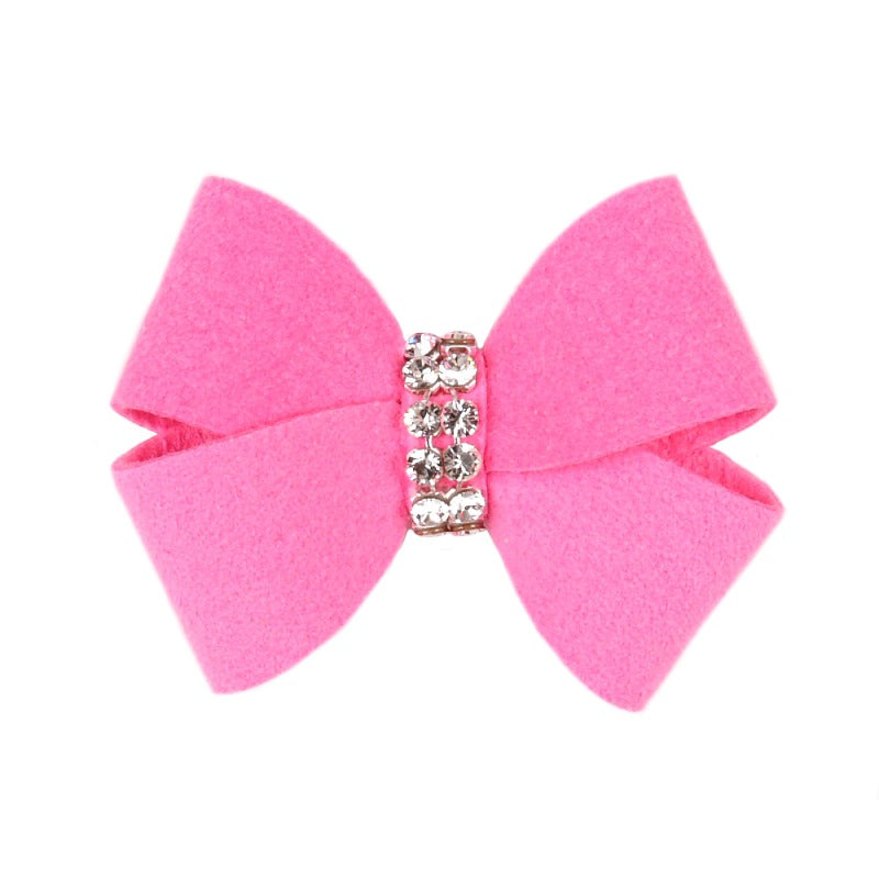 Dog Bow - Perfect Pink Nouveau Dog Bow by Susan Lanci
