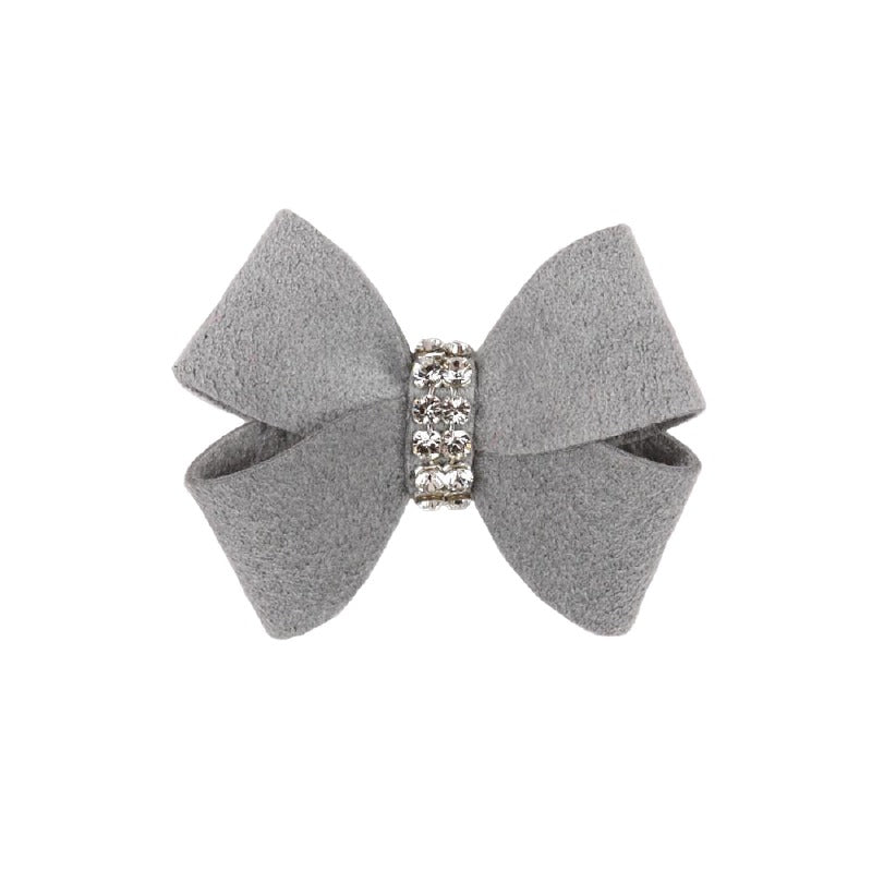 Dog Bow - Platinum Nouveau Dog Bow by Susan Lanci