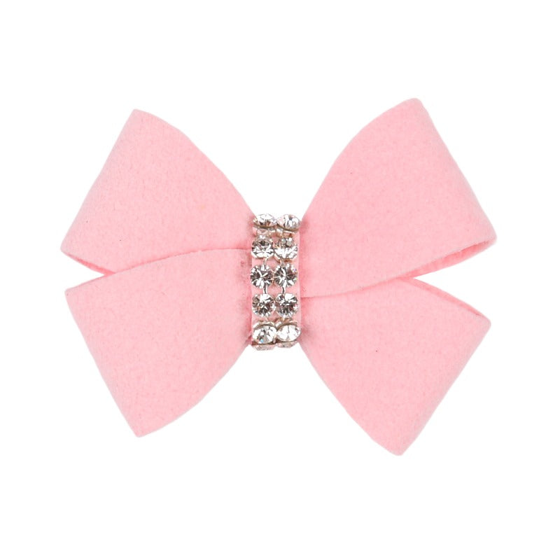 Dog Bow - Puppy Pink Nouveau Dog Bow by Susan Lanci